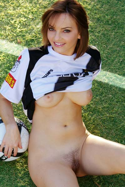 Model Dakota Rae in Gets Our Spirits Up For The World Cup