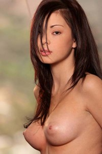 Model Lindsey Lee in Perky breasts