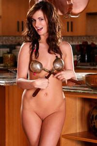 Model Lily Carter in Brown Hair And Pink Panties