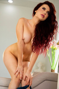 Model Sabina Rouge in Sexy Redhead
