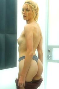 Model Mazzy Grace in Blonde satisfaction