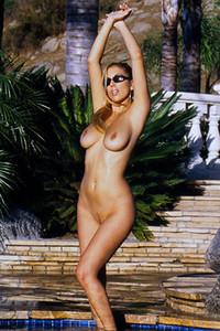 Model Jelena Jensen in Poolside strip